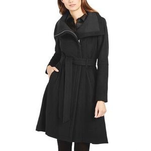 BCBGeneration Stand Collar Belted Coat
